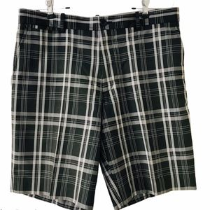 Dockers Golf Shorts Plaid Black  Grey Men's Sz 34